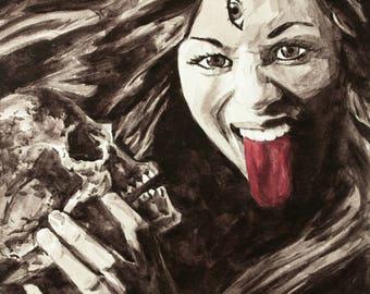 Kali in Ink - Fine Art Mini Print