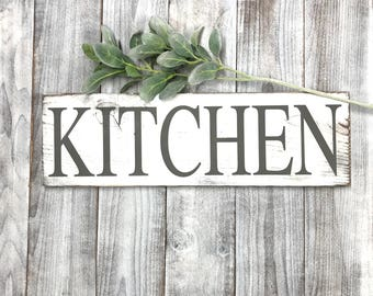 Beau Kitchen Signs Decor Farmhouse White, Rustic Home Decor Shabby Chic  Distressed, Kitchen Wall Decor French Country Gray, Kitchen Wall Decor