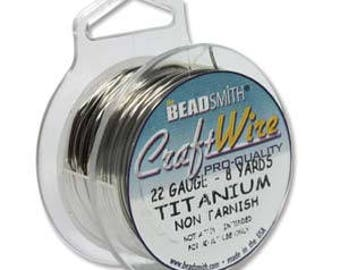 22 Gauge Antique Silver Plated Wire, Non-Tarnish, 8 yard spool, Titanium Round Wire, 24 foot spool, 22 Gauge Wire, Wire Wrapping Wire, Wire