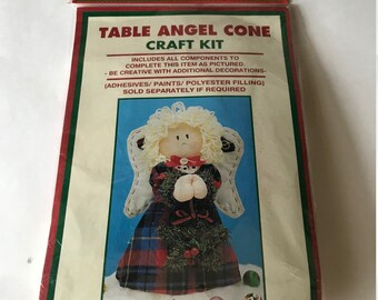 Vintage Table Angel Cone Easy Craft Kit by Homespun Creations, Christmas Decor