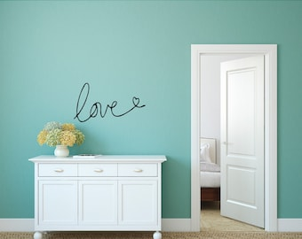 Love Wall Decal, Couples Wall Decal, Romantic Decal, Love Vinyl Decal,Couples Gift