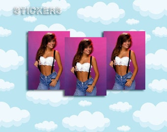 """Kelly Kapowski Sticker Pack 3 ct 2 x 1.5"""" - Saved by the Bell - 90s Stickers - 1990s - Notebook Stickers - Laptop Stickers"""