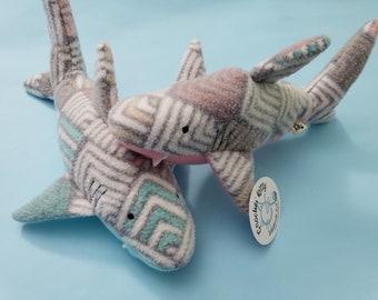 Phat Cat's Kickin' Shark Kicker Cat Toy| catnip| handmade| shark week| cats| kitten play| unique cat toys| cat gift| crochet| cat toy