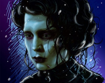 Edward Scissorhands Digital Painting