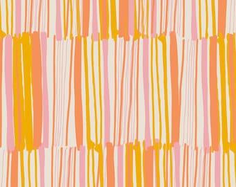 Cotton Fabric | Modern Geometric + Abstract Stripes Fabric | Vitrine Watermarks Zest | Morning Walk | Art Gallery Fabrics ///  [1/2 yard+]