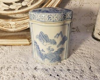 Asian tea canister