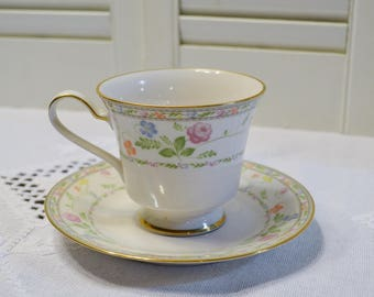 Vintage Noritake Finale Cup and Saucer Floral Pattern 7213 Replacement Japan PanchosPorch