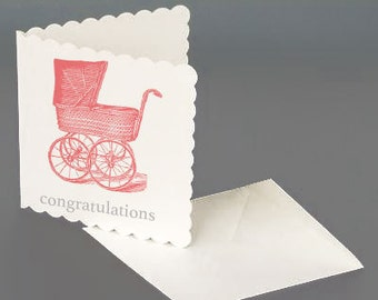 Congratulations New Baby - Pink Greeting Card