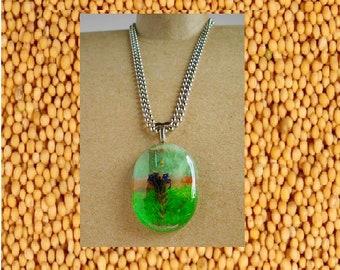 Landscape Mustard Seed necklace