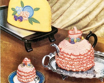 Crocheted Egg and Tea Cosy and Knitted Tea Cosy - Digital Pattern