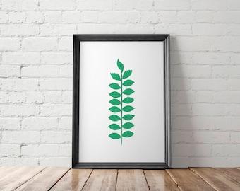 Botanical Printable, Botanical Art Prints, Botanical Poster, Botanical Wall Decor, Leaf Printable, Leaf Art Prints, Leaf Poster, Leaf Prints