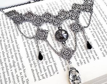 Swarovski Choker Black Gothic Choker Gothic Necklace Gothic Bridal Necklace Swarovski Crystal Necklace Victorian Gothic Jewelry Black Choker