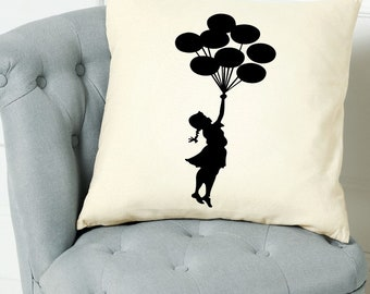 Banksy Balloon Girl Quote Scatter Cushion Cover Throw Decorative Pillow Birthday Gift Home Decor Inspirational