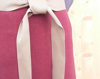 paños de cocina - delantal rojo cereza