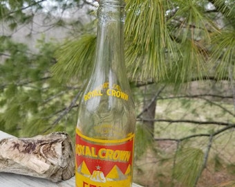 1936 Clear Royal Crown RC Cola by Nehi Corporation Antique Glass Bottle