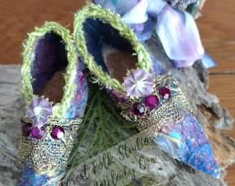 Purple Fairy shoes, fae, elf, fantasy