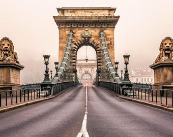 Chain Bridge Budapest Hungary Photo Print
