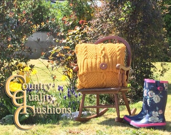 Hand Knitted Quality Country Cushion