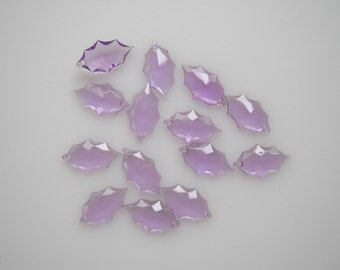 Lilac beads, light purple beads, acrylic faceted beads, flat back drop beads, Diamond beads, Drop Pendant, 14