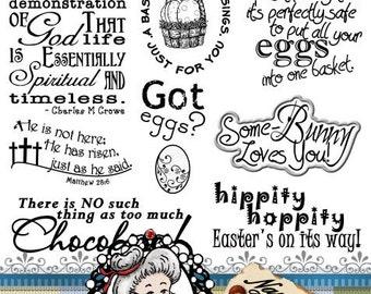 Instant Download Digital Digi Stamps Easter Set 1 Word Art Sentiments ID:NV-WA0020 By Nana Vic