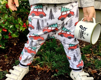 Baby Harem Pants | Grow With Me Pants | Baby Harems, Hipster Baby Pants, Toddler Harem Pants, Christmas Baby Pants, Christmas Vacation Pants