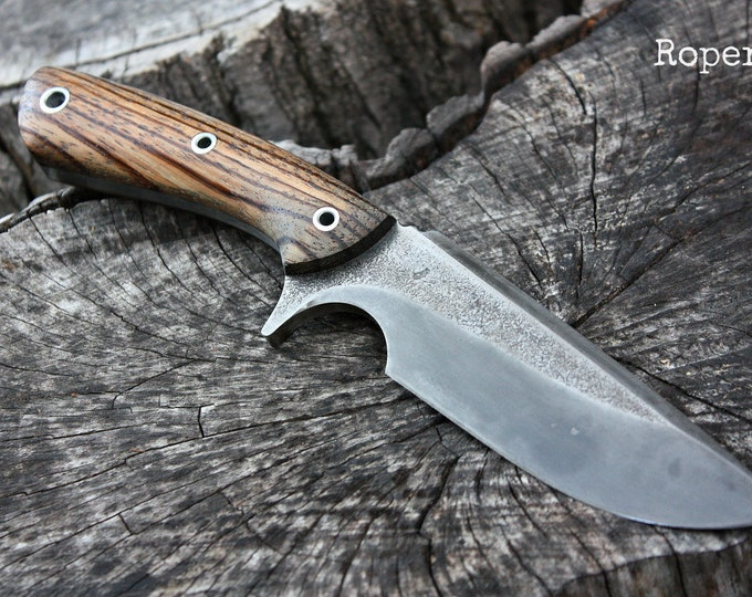 "Handcrafted FOF ""Roper"", survival, hunting or tactical knife"