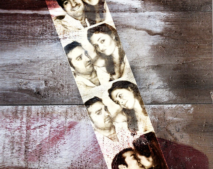Wood Print Gift For Couple Wood Anniversary Couple Portrait Gift Photo Gift Photo Strip Photo Booth Wedding Photo On Wood 16x20