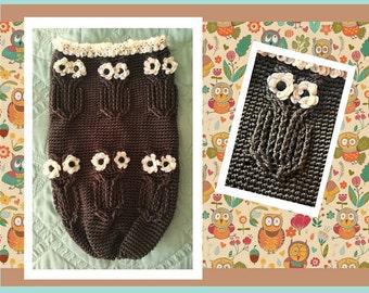 Newborn Owl Cocoon Crochet Pattern