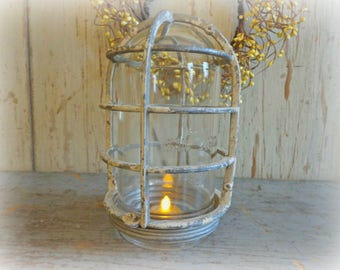vintage cage light with glass cover explosion proof industrial cage light fixture caged light industrial decor