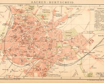 Aachen map Etsy