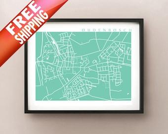Oudenbosch Map Print - Netherlands Poster