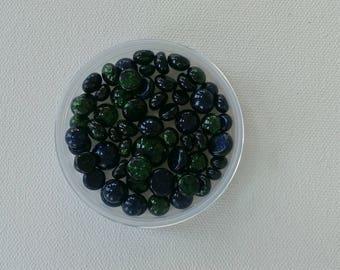 1 OZ 96 COE Glass Frit Balls Adventurine Mix
