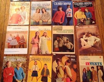 Vintage 1960's Columbia Minerva Knitting Magazine Lot Instructions Patterns