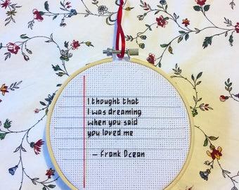 Frank Ocean notebook hoop
