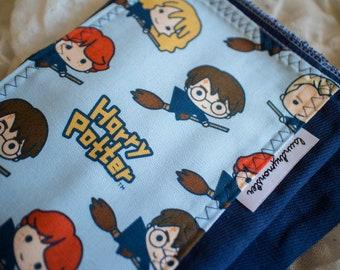 Baby burp cloth Harry Potter hand dyed deep blue burp cloth