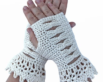 fingerless mitts crochet pattern - Symphony fingerless gloves crochet pattern - texting gloves pdf file - wrist warmers