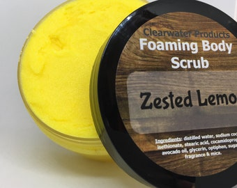 Zested Lemon Foaming Body Scrub