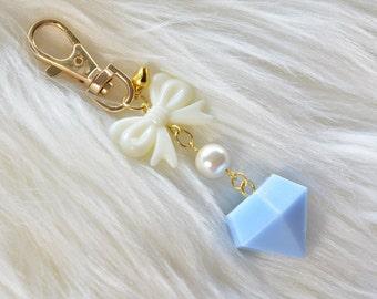 Diamond keychain/bag charm