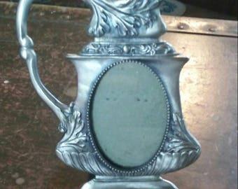 Vintage pewter frame
