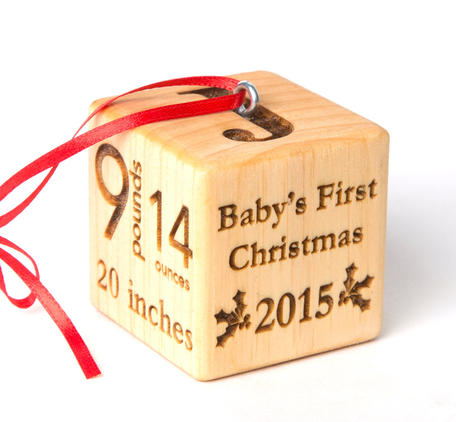 2 baby block christmas ornament personalized baby block zoom negle Gallery