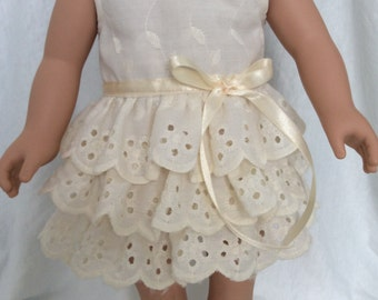 Party and Play date Dress made to fit an 18 inch Doll - One of a Kind - Made in Canada - Handmade