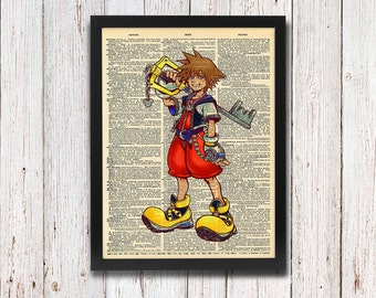 Kingdom Hearts Sora Dictionary Art