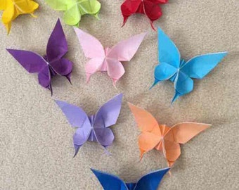 12 Origami Butterflies