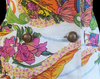 US Alberto Makali New Venus & Flowers Shocking Bold Print Jacket