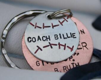 Baseball Player/Coach Keychain