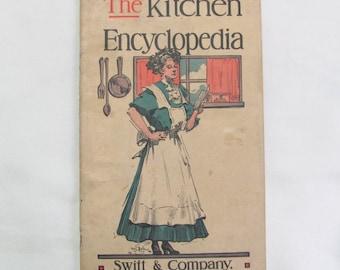 Vintage 1911 The Kitchen Encyclopedia Recipe Booklet Swift & Company Oleomargarine Advertising