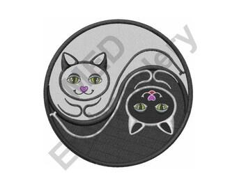 Yin Yang Cats - Machine Embroidery Design, Yin Yang, Cats