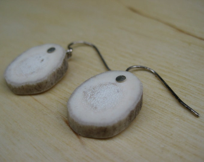 Insouciant Studios Alpine Earrings Sterling Silver and Deer Antler