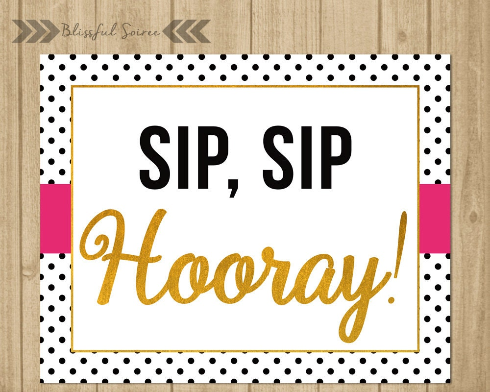 picture about Sip Sip Hooray Printable identified as 100+ Printable Sip Sip Hooray yasminroohi