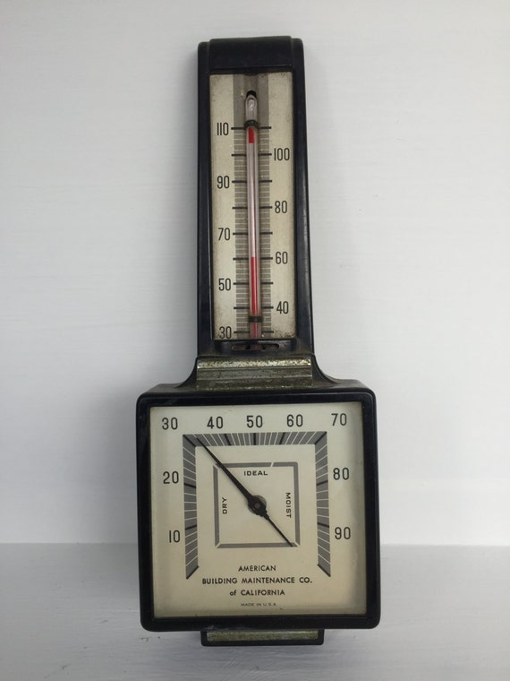 airguide barometer with temperature and humidity usa rh etsy com Airguide Barometer Manual Art Deco Airguide Temperature Humidity